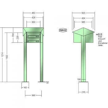 renz freistehende montage waagerechte k sten prisma stahl ausf hrung. Black Bedroom Furniture Sets. Home Design Ideas