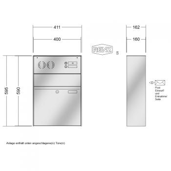 renz 1 teilig installationskasten waagerecht. Black Bedroom Furniture Sets. Home Design Ideas