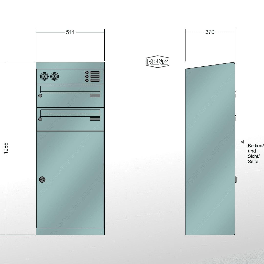 Schön Mypaketkasten Dekoration Von Renz Paketkasten Qubo Xl, Schräges Dach, Mit