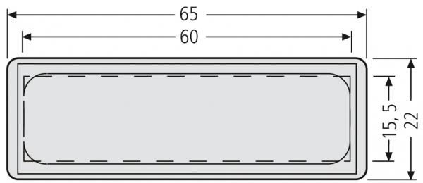 Renz Klingelschild 55 X 13 Weiss Klingelschilder 7